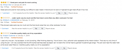 all clad D5 negative reviews