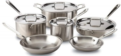 best stainless steel cookware - all clad 10 piece cookware set