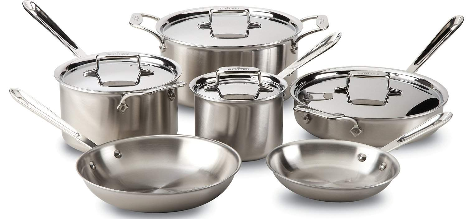 best stainless steel cookware - all clad 10 piece cookware set
