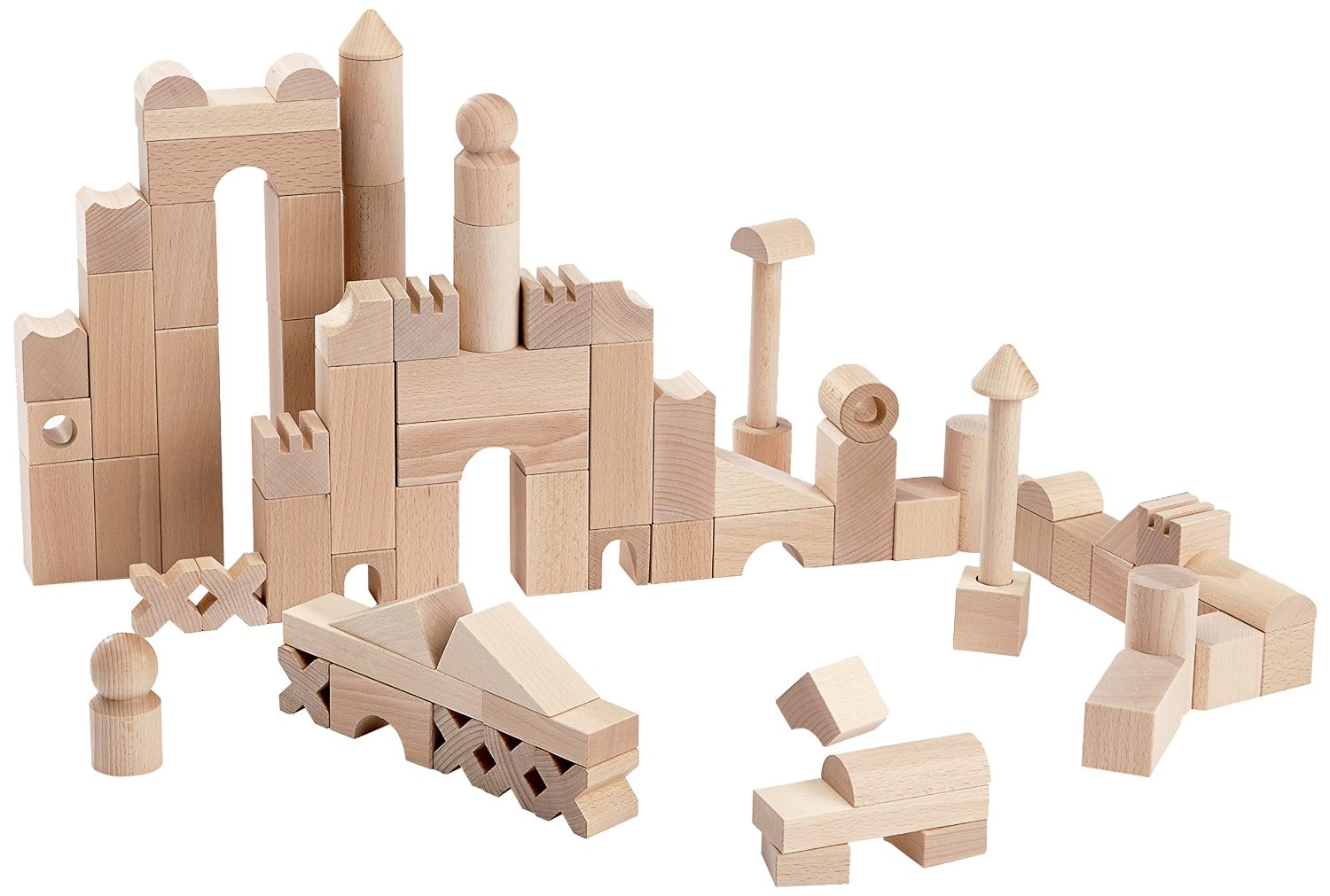 best wood toys for kids - haba building blocks