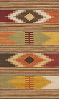 Safavieh Navajo Hand Woven Red and Multi Wool Area Rug