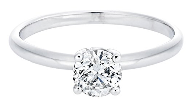 conflict free engagement rings - 14k white gold