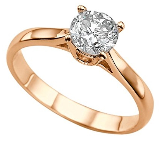 conflict free engagement rings - Moissanite Forever Classic 6.50MM