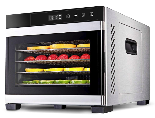 Ivation 6 Tray Premium Stainless Steel Electric Food Dehydrator