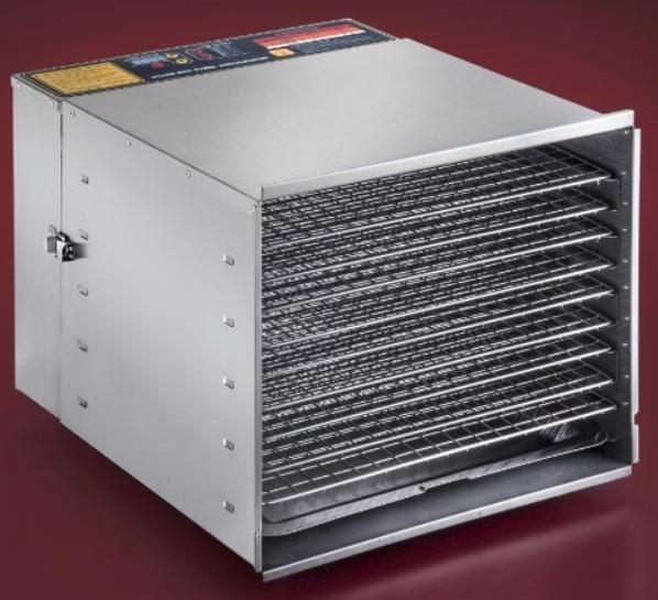 STX International STX-DEH-1200W-XLS Dehydra Commercial Grade Stainless Steel Digital Food Dehydrator