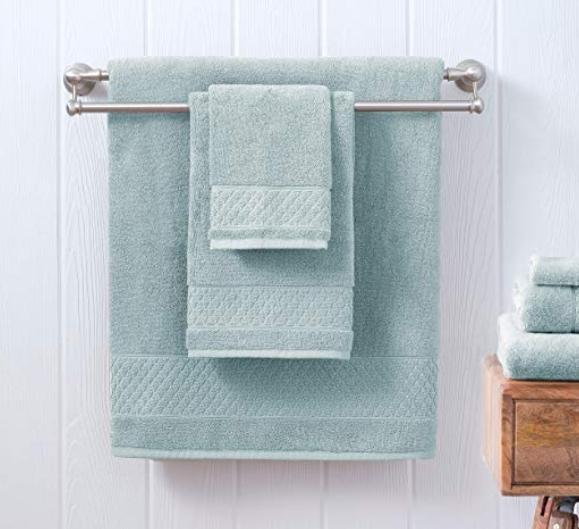 Welhome Hudson 100% Pure Organic Cotton 6 Piece Luxury Towel Set