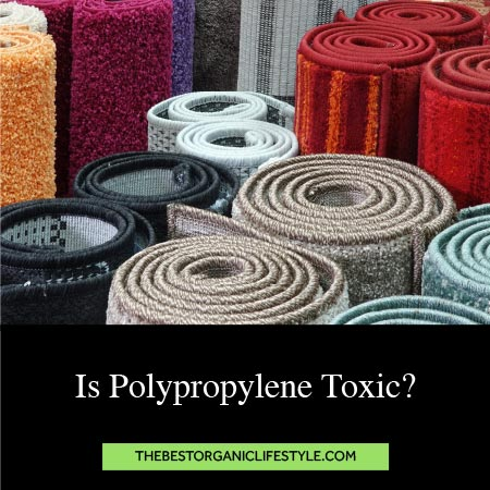 Is Polypropylene Toxic? Photo of rolled up rugs with post title