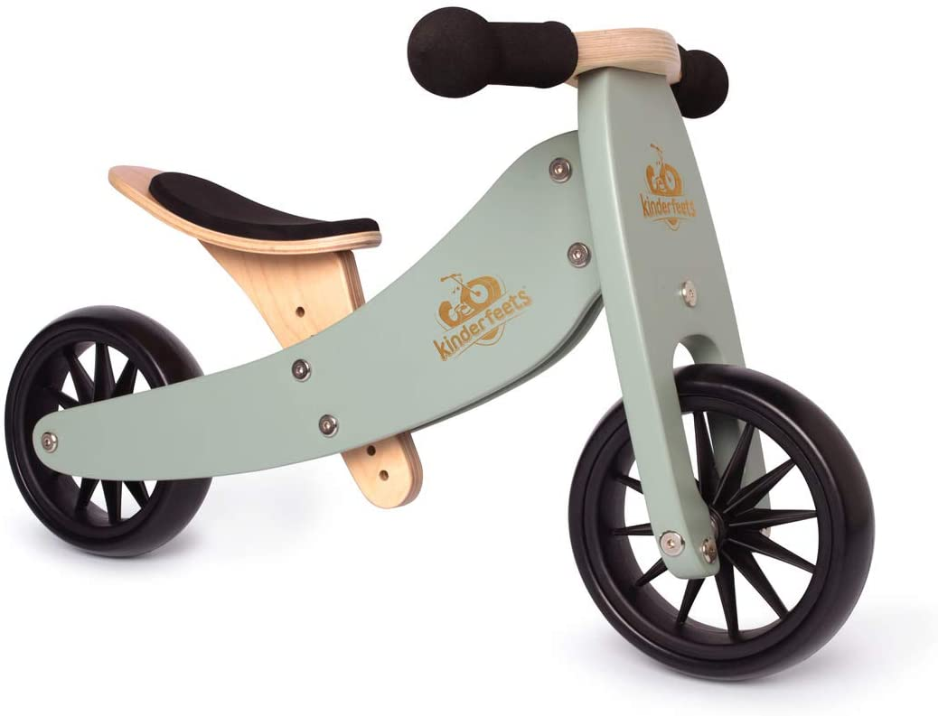 Kinderfeets Tinytot 2-in-1 Wooden Balance Bike and Tricycle