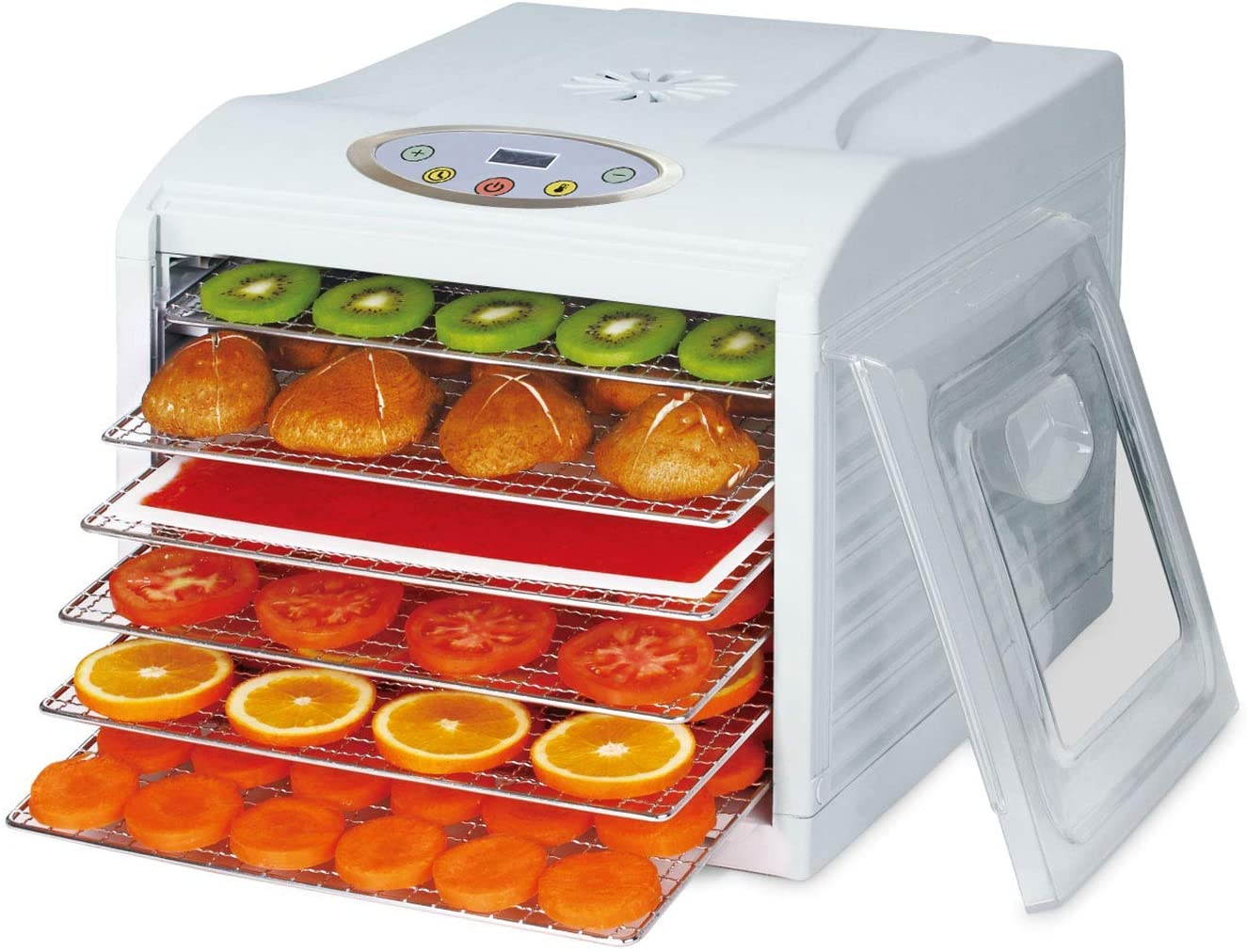 BioChef Arizona Sol Food Dehydrator with 6 x BPA FREE Stainless Steel Drying Trays & Digital Timer + Accessories