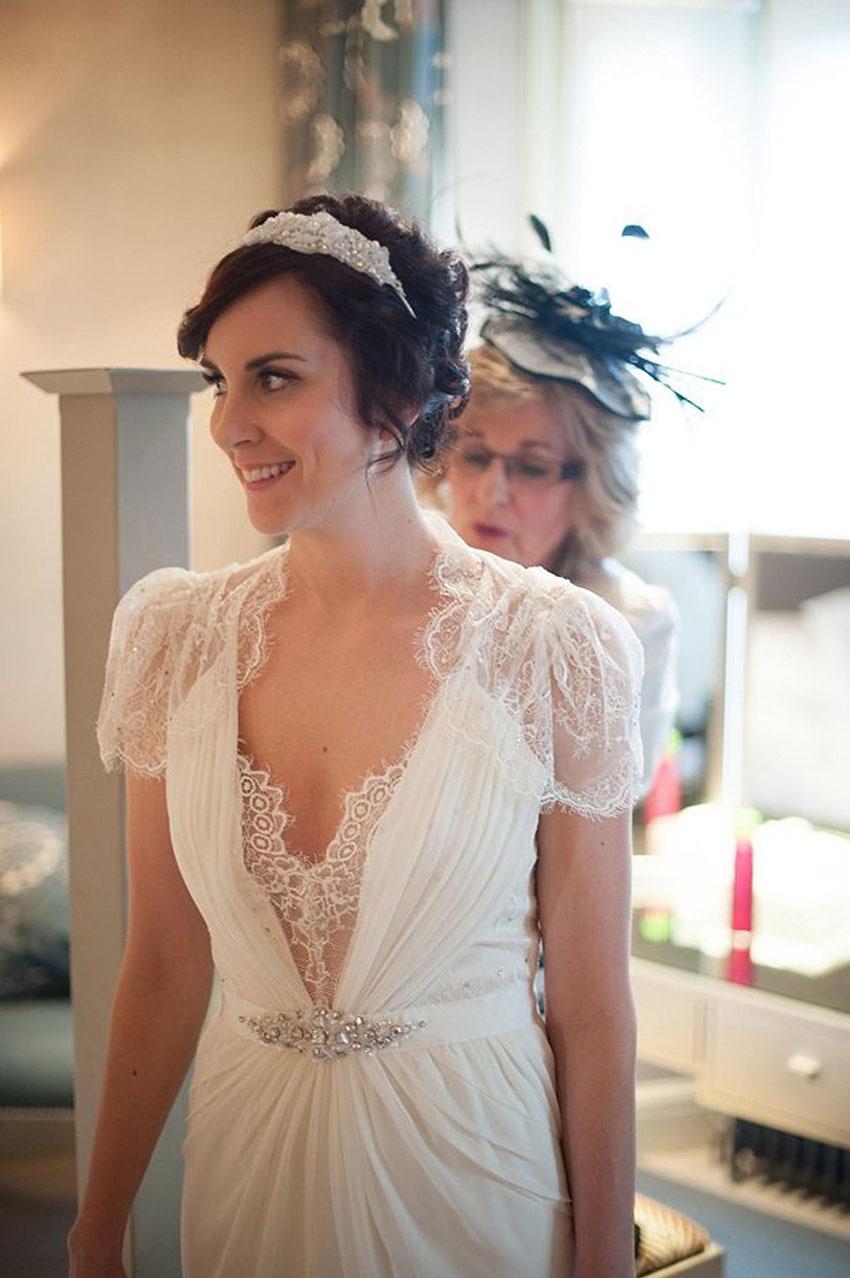 Boho Vintage Style Wedding Dress